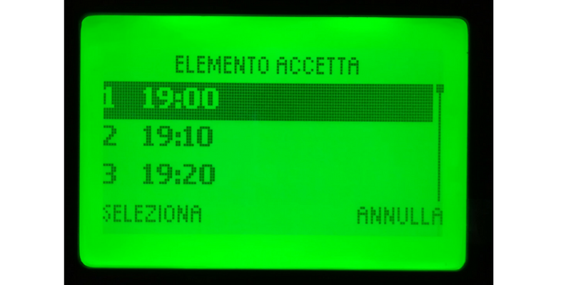 stampante xMenu display