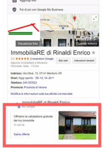 esempio google post